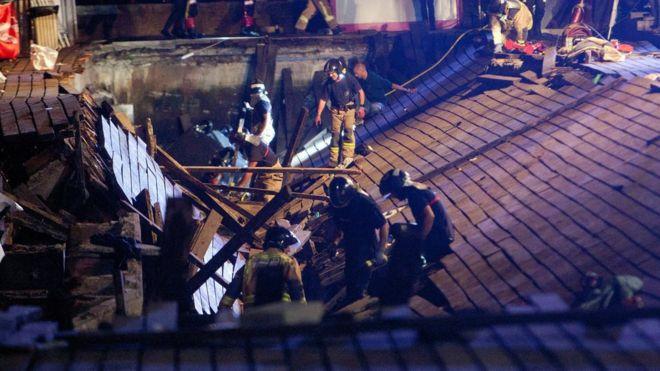 Más de 100 heridos en Vigo, España, tras desplome de una plataforma durante un concierto