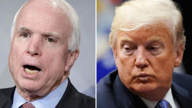 John McCain: 5 de sus notorios enfrentamientos con Donald Trump (pese a ser republicanos ambos)