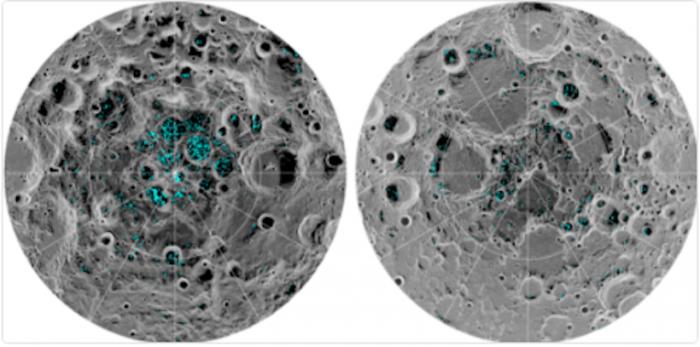 La NASA confirma la existencia de hielo en los polos de la Luna