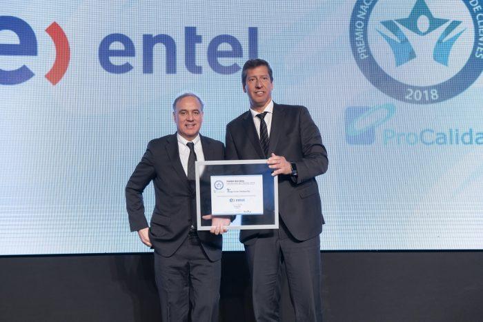 """Entel obtuvo el primer lugar en """"Telefonía Fija"""" en el Premio Nacional de Satisfacción de Clientes ProCalidad"""