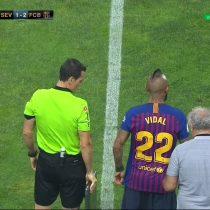 El título 19 de su carrera: Arturo Vidal debuta en el Barcelona, ganando la Supercopa de España