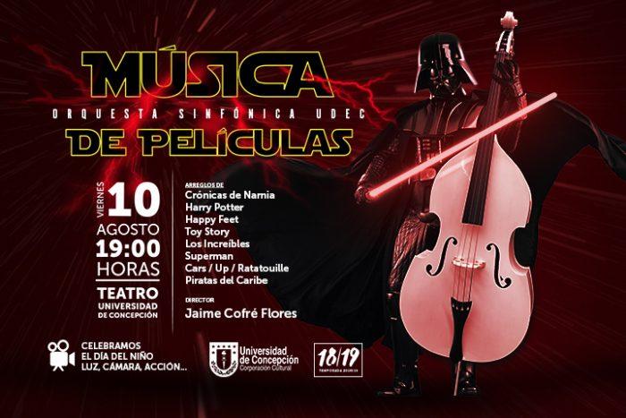 Día del niño: Concierto de música de películas en Teatro UdeC