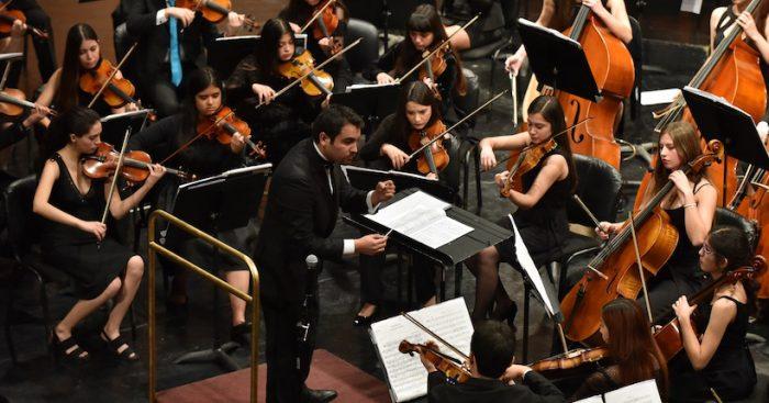 Concierto gratuito Sinfónica Estudiantil en Centro Cultural Carabineros de Chile
