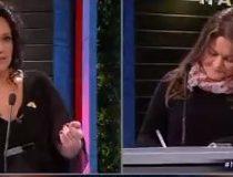 """El fuerte debate entre Marisela Santibáñez y la representante del """"Bus de la Libertad"""""""