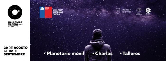 """Evento de difusión de la astronomía """"Maule Mira Tu Cielo"""" en Universidad Autónoma, Talca"""