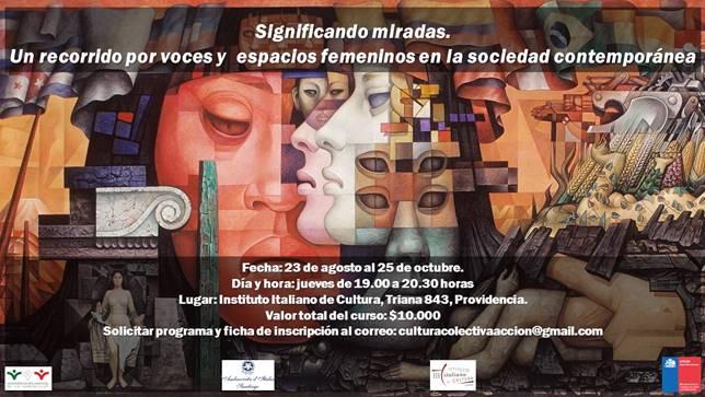"""Curso """"Significando miradas. Un recorrido por voces y espacios femeninos en la sociedad contemporánea"""" en Instituto Italiano de Cultura"""