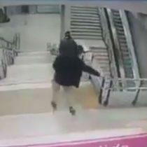 La estrepitosa caída que sufrió joven evasor en la línea 6 del Metro