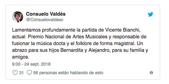 Muere a los 98 años el compositor Vicente Bianchi