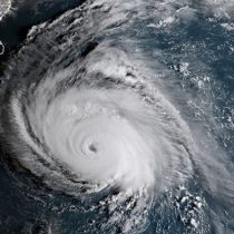 Huracán Florence: así se ve el ojo del