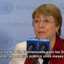 Las declaraciones de Michelle Bachelet en la ONU por la solicitud de investigar a Venezuela por posibles crímenes de lesa humanidad