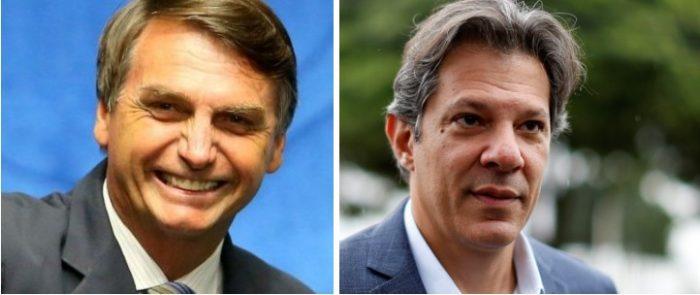 Bolsonaro versus Haddad: encuesta confirma la polarización electoral en Brasil