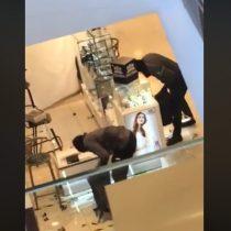 Violento robo a tienda del retail en Providencia a plena luz de día