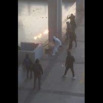 Video muestra momento exacto del enfrentamiento entre Carabineros y estudiantes al interior del Liceo de Aplicación