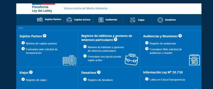 Ley de Lobby: los nuevos ministros al debe con plataforma web