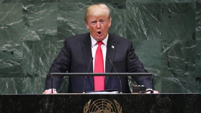 """Trump golpea la mesa en la ONU: """"Ningún gobierno responsable debería subsidiar el deseo de sangre de Irán"""""""