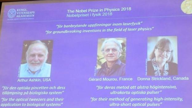 Premio Nobel de Física 2018, en directo