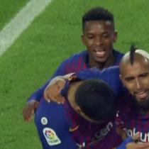 El Rey está de vuelta: Arturo Vidal anota su primer gol en el Barcelona frente al Real Madrid