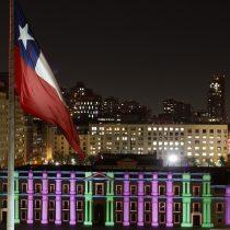 La Moneda se iluminó para conmemorar el triunfo del No