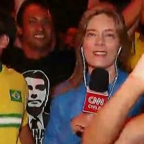 El estoico despacho de Mónica Rincón durante festejos en Brasil por triunfo de Bolsonaro