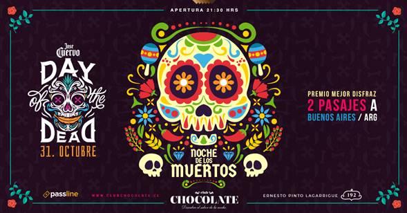 """Fiesta estilo mexicano """"Noche de Muertos"""" en Club Chocolate"""
