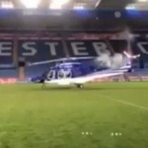 Difunden imágenes del accidente del helicóptero de Leicester, que mató al propietario y a otras cuatro personas