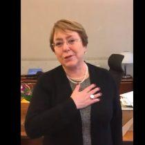 Las sentidas palabras de despedida a Ana González de Michelle Bachelet