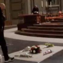 """Artista español pintó la tumba del dictador Francisco Franco con el mensaje """"Por la libertad"""""""