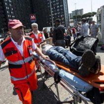 Roma: Escalera mecánica fuera de control en el metro deja decenas de heridos