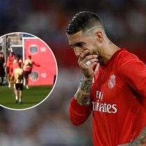 Sergio Ramos y el doble pelotazo a Reguilón por un golpe accidental