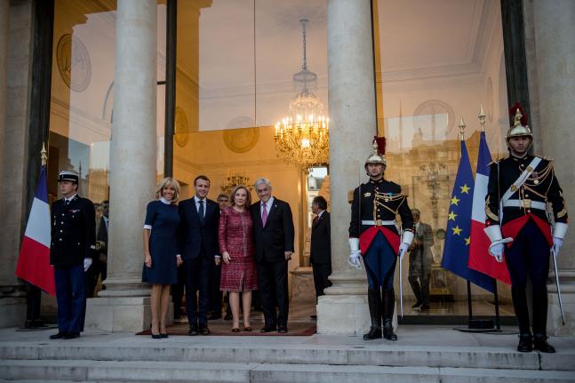 """""""Rien de rien"""": el nulo registro de la visita de Piñera en la web del Elíseo"""