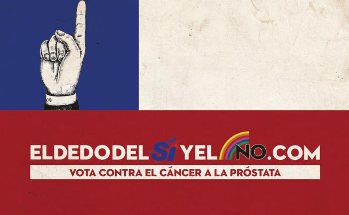 El dedo del Sí y el No: creativa campaña contra el cáncer de próstata se inspira en los 30 años del Plebiscito
