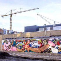 En Holanda hallan antiguo mural de Brigada Ramona Parra durante demolición