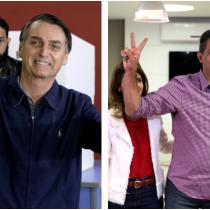 Elecciones en Brasil: Bolsonaro vota con chaleco antibalas y Haddad vislumbra la segunda vuelta