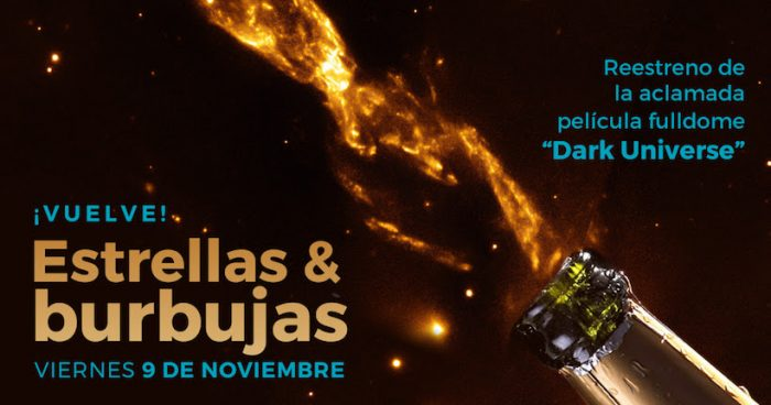 """Estrellas & Burbujas"": película Fulldome ""Dark Universe"" en Planetario USACH"