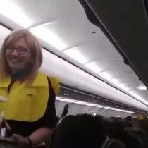 Las graciosas instrucciones de seguridad en un vuelo que son furor en redes sociales