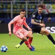 Vidal vio acción en el empate de Barcelona ante Inter por Champions League