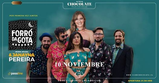 "Concierto banda ""Forró da Gota Chile"" en Club Chocolate"