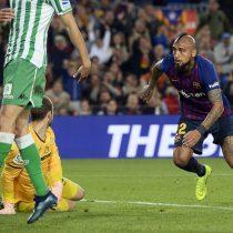 El gol de Arturo Vidal en la sorprendente derrota del Barcelona