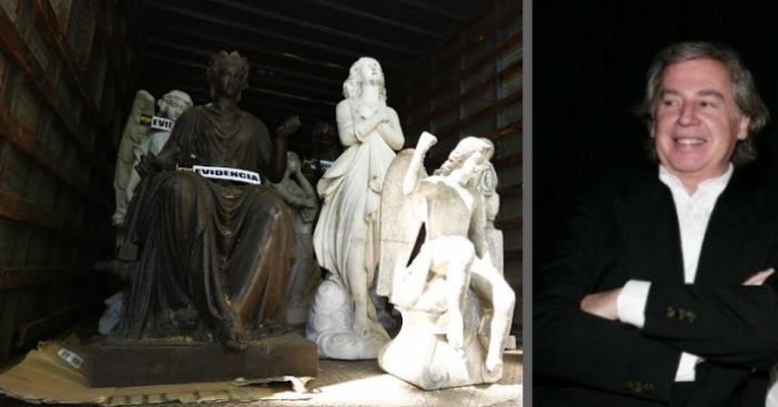 Otras 10 piezas de arte y 17 arqueológicas  robadas se encontraban en el fundo de Raúl Schüler