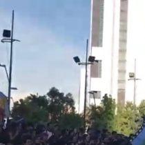 El banderazo de la Federación de Estudiantes Mapuche en una nueva manifestación por Catrillanca