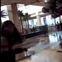 Así fue la caída del techo en Mall Florida Center