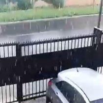 Granizos sorprendieron a varias localidades de Chile y se decretó una alerta por la tormenta eléctrica que afectará entre las regiones de Valparaíso y Biobío