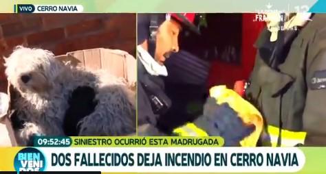 Periodista de C13 se pone a llorar mientras informaba sobre las víctimas de un incendio
