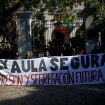 Apoderados y alumnos del INBA se manifestaron en contra del asesinato del comunero mapuche, Camilo Catrillanca