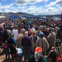 Masiva despedida mapuche a Camilo Catrillanca en la comunidad de Temucuicui