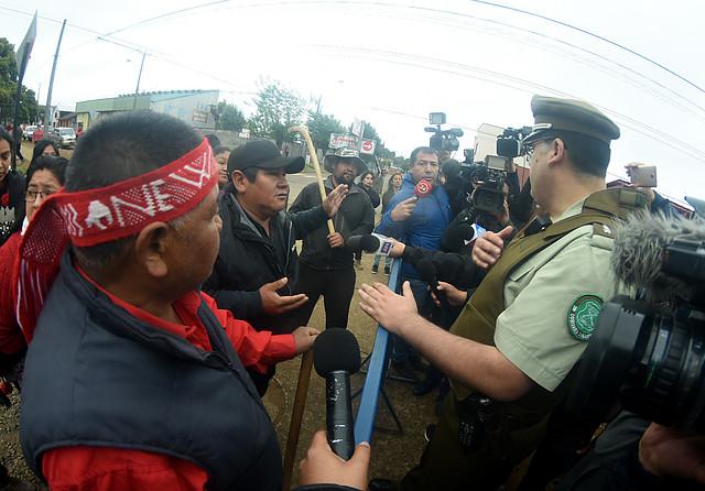 Tensión con familiares de Camilo Catrillanca marcó el inicio de la formalización de los 4 carabineros