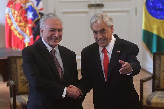 Piñera y Temer firman acuerdo de libre comercio que elimina el roaming y fomenta ventas electrónicas
