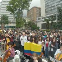 Protestas estudiantiles en Colombia al ritmo de