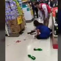 Guardia de seguridad agrede a mujer embarazada en supermercado de Temuco