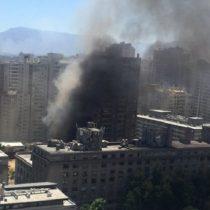 Gran incendio en pleno centro de Santiago